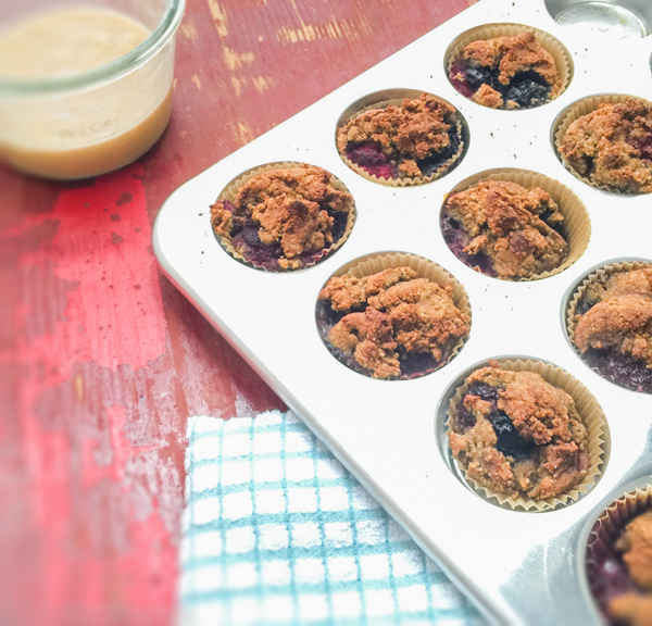 berry avocado muffins