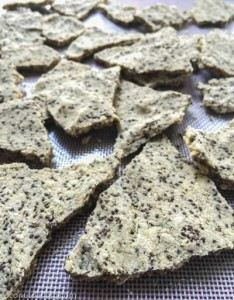 rosemary almond crackers